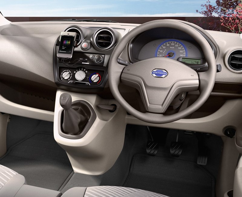Datsun Go T Option Interior Image Gallery, Pictures, Photos