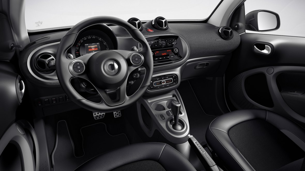 smart brabus fortwo interior image gallery pictures photos. Black Bedroom Furniture Sets. Home Design Ideas